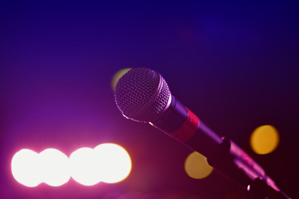 STand-up comedy microphone