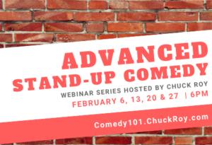 Advanced Stand-up Comedy Webinar Series Feburary 2019