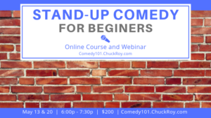 Stand-up Comedy for Beginners | Webinars | May 2019