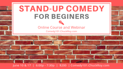 Stand-up Comedy for Beginners | Webinars | June 2019
