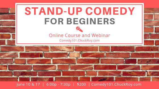 Stand-up Comedy for Beginners Webinars June 2019