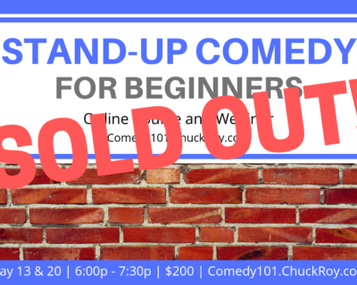 Stand-up Comedy for Beginners | Webinars | May 2019 (SOLD OUT!)