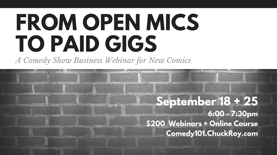 From Open Mics to Paid Gigs - Webinars