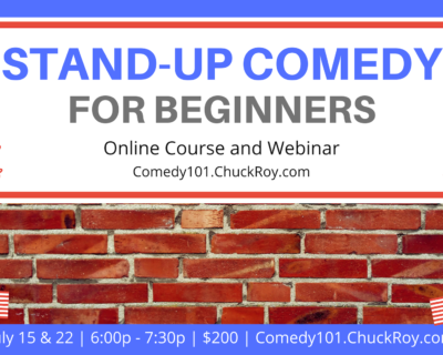 Stand-up Comedy for Beginners | Webinars | July 2019