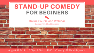 Stand-up Comedy for Beginners August 2019