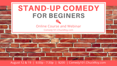 Stand-up Comedy for Beginners | Webinars | August 2019