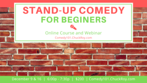 Stand-up Comedy for Beginners - December 2019