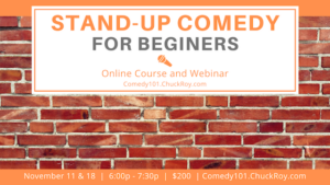 Stand-up Comedy for Beginners - November 2019
