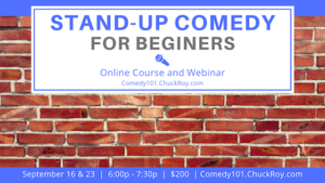 Stand-up Comedy for Beginners September 2019