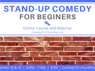 Stand-up Comedy for LGBTQ+ Beginners | Webinars | September 2019