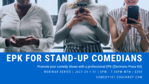 EPK for Stand-up Comedians | Webinar Series (July 2019)