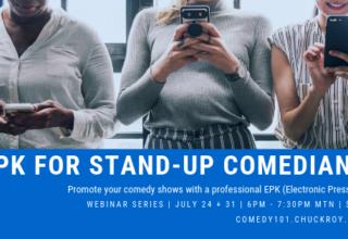 EPK for Stand-up Comedians | Webinar Series (July 2019)
